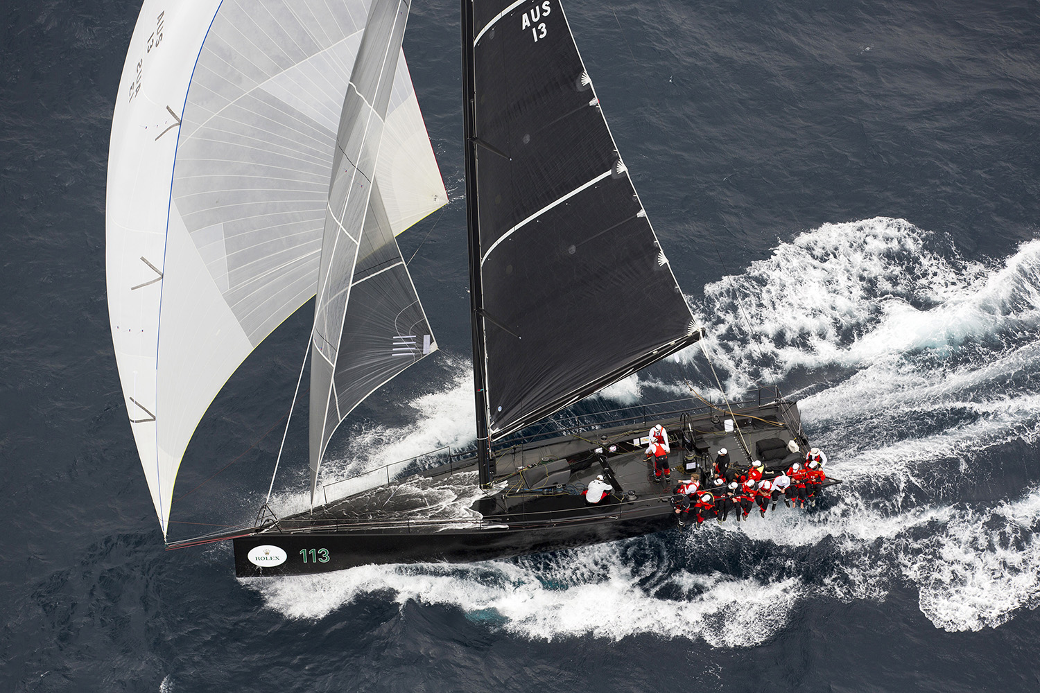Chinese Whisper at the start of the Rolex Sydney Hobart Yacht Race. Photo Andrea Francolini.