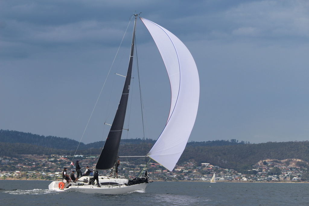 Hobart Combined Clubs Inshore Series IRC and AMS champion Philosopher. Photo Peter Watson.