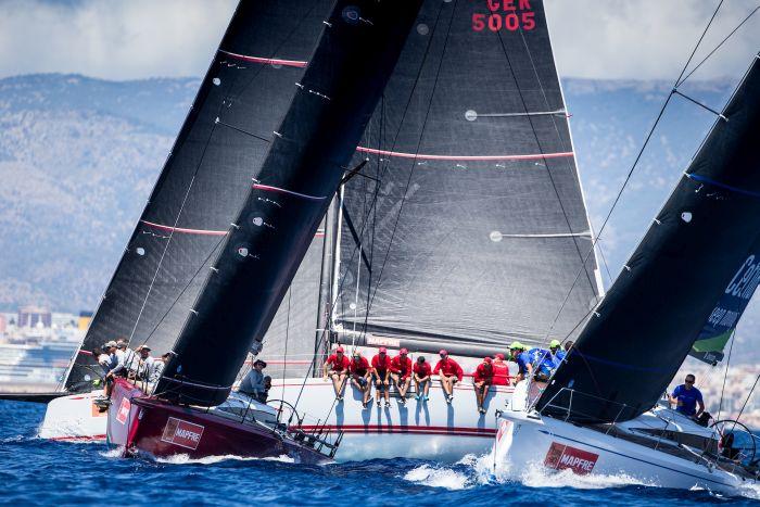 ClubSwan 50 fleet sailing today on the Bay of Palma © María Muiña/Copa del Rey MAPFRE.