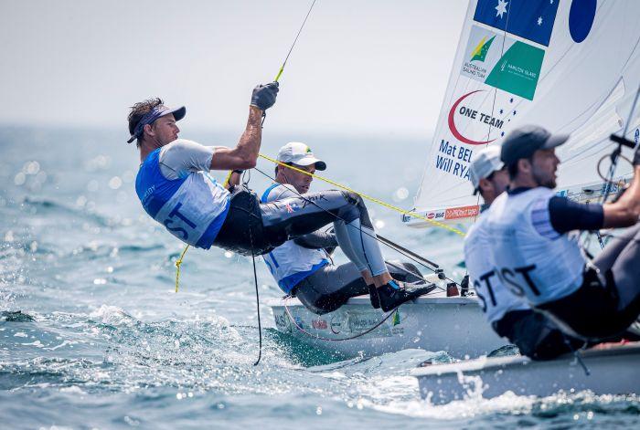 Mat Belcher and Will Ryan (470). Photo Sailing Energy/World Sailing.