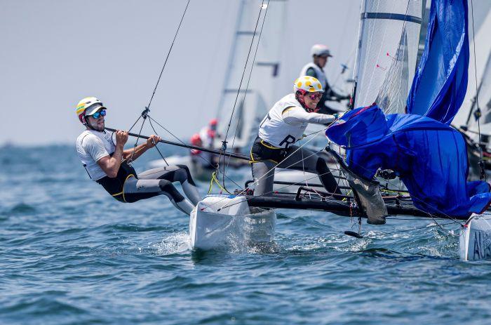 Jason Waterhouse and Lisa Darmanin. Photo Sailing Energy/World Sailing.