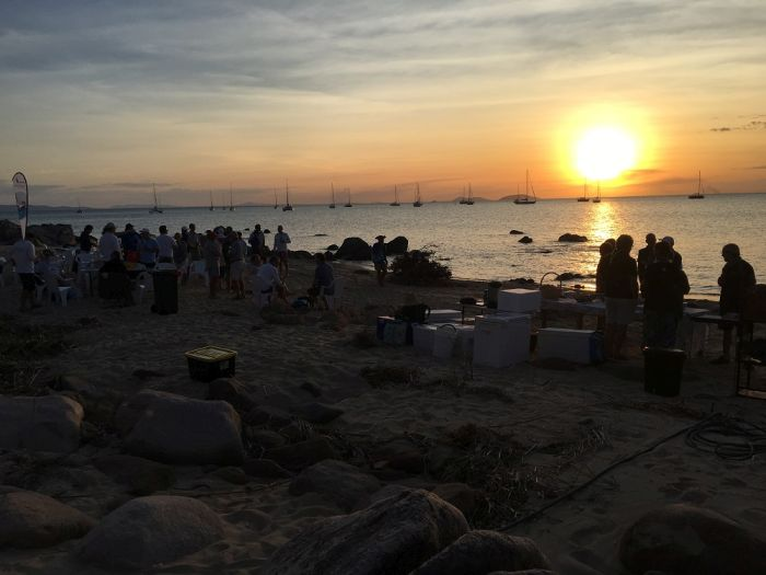 Enjoying sunset from the Cape Upstart BBQ - Mike Steel pic - SMIRW.