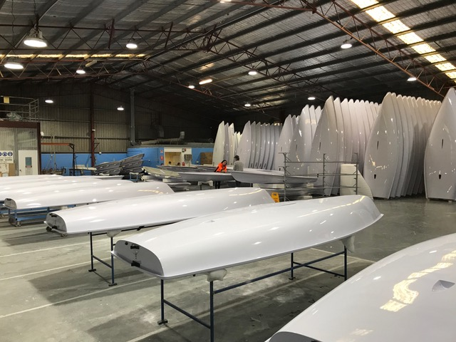 Stacking up - new Lasers in storage at PSA ahead of the Laser Summer Downunder. Photo credit PSA.