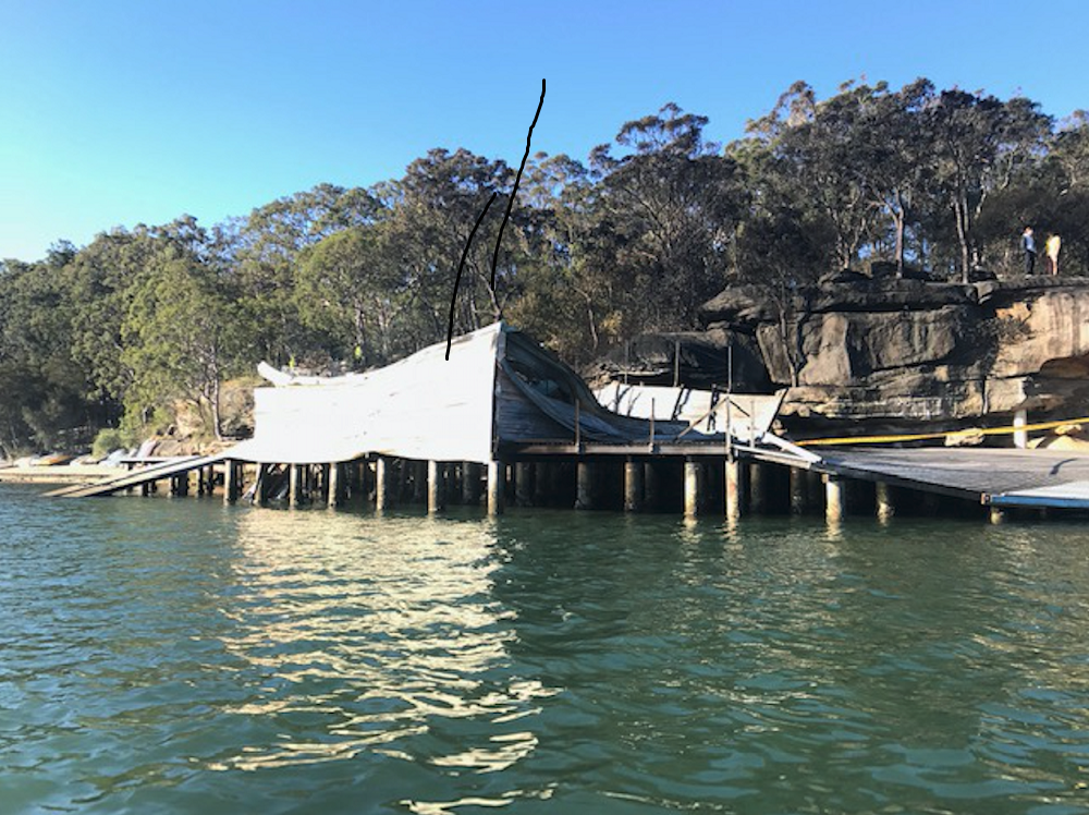 The-boat-shed-the-morning-after-the-fire---Lane-Cove-12s-pic