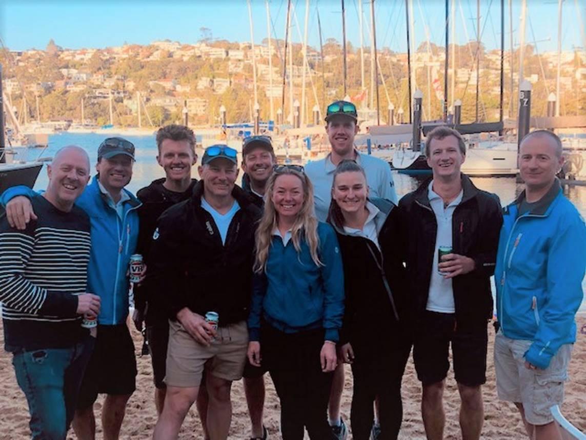 A happy Nutcracker crew back at Middle Harbour YC - Margaret Fraser-Martin pic