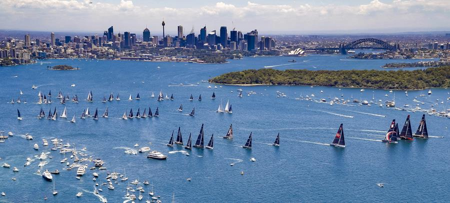 A picture-perfect Sydney Harbour greeted our 85 competitors for the start of the Rolex Sydney Hobart Yacht Race - Credit ROLEX/Studio Borlenghi.