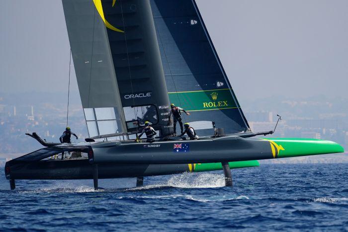 Australia SailGP training in Marseille. Photo SailGP.