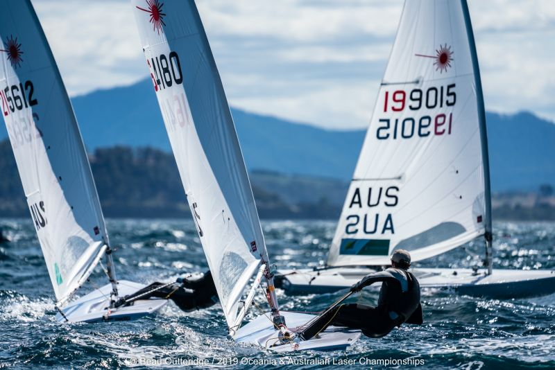 Laser Australian Nationals 2018. Photo Beau Outteridge.