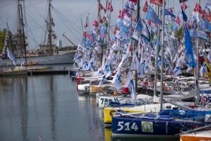 The colourful fleet waits at dock - Christophe Breschi pic