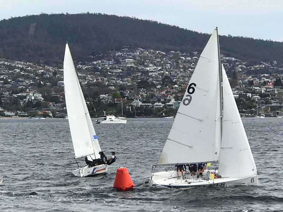 To cover or not….tactician in Match Racing Championship. Photo Krissy Logan.