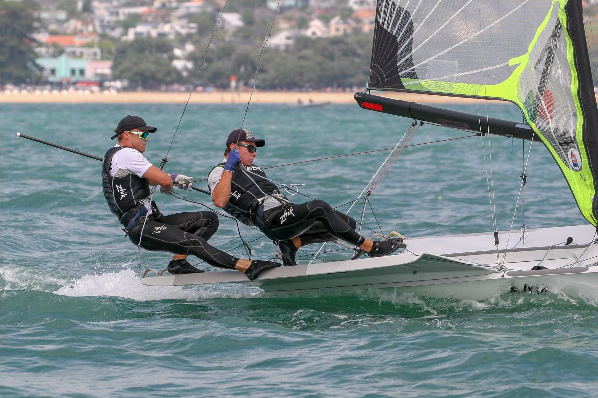 Isaac McHardie and William McKenzie will be among as many as 400 competitors expected at December's world championships. Photo: Yachting New Zealand.