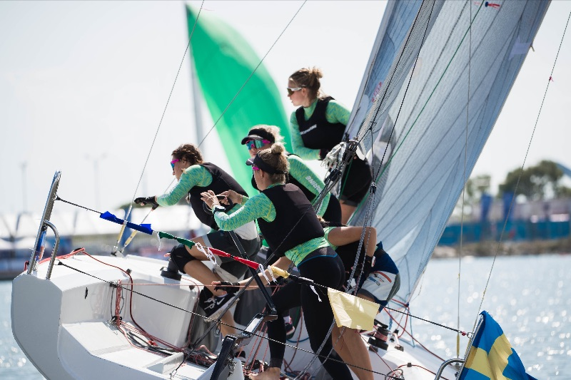 Team Bergqvist roll tacking their way to an undefeated day. Photo: CIWMR 2019.