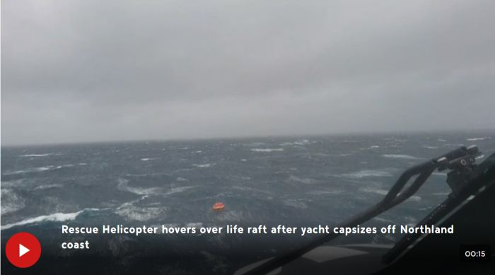 Rescue off Northland. Image TVNZ.