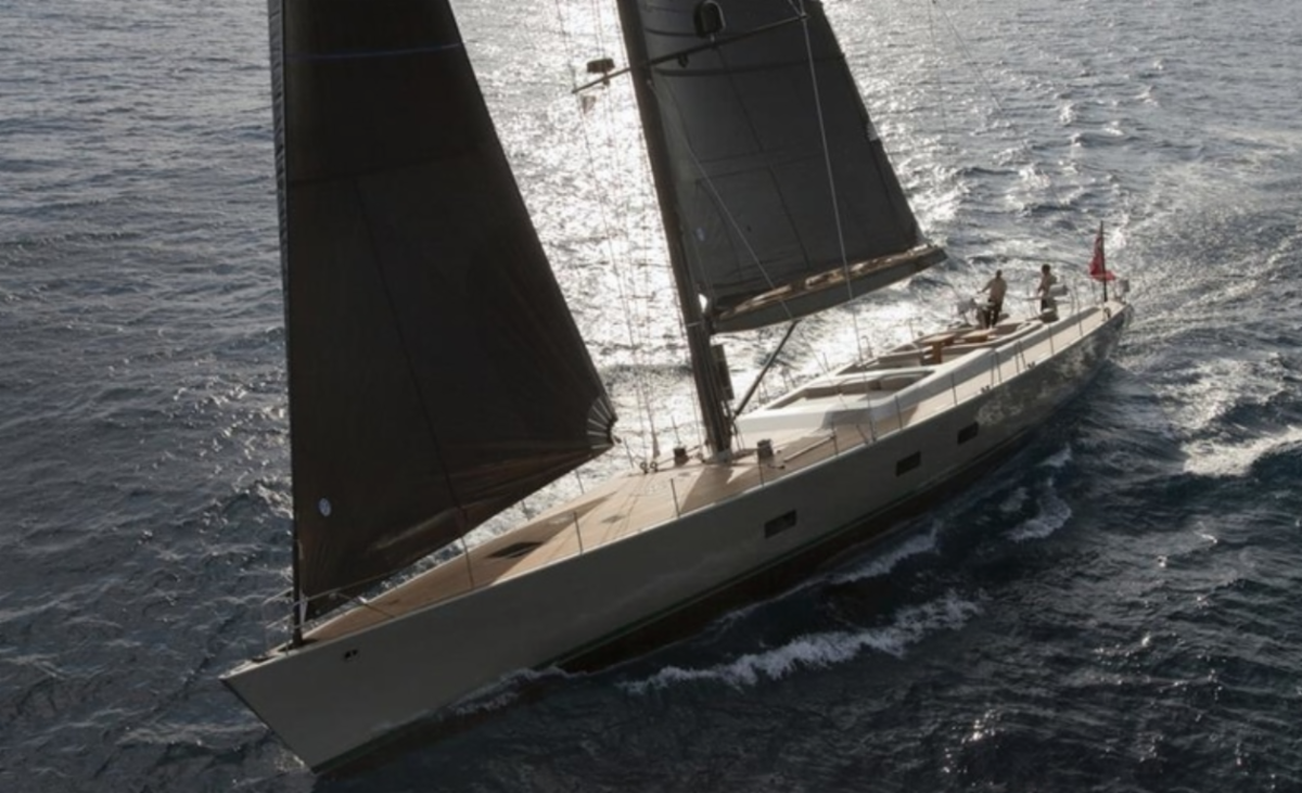 The Wally 100 Dark Shadow is the largest entry to date in the 2019 RORC Transatlantic Race.