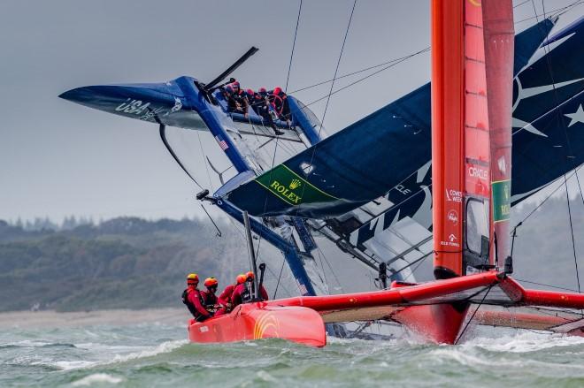 USA capsize SailGP Cowes