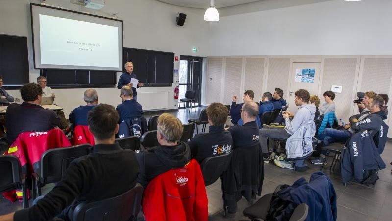 Brest Atlantiques skippers briefing. © Alexis Courcoux // Brest Atlantiques