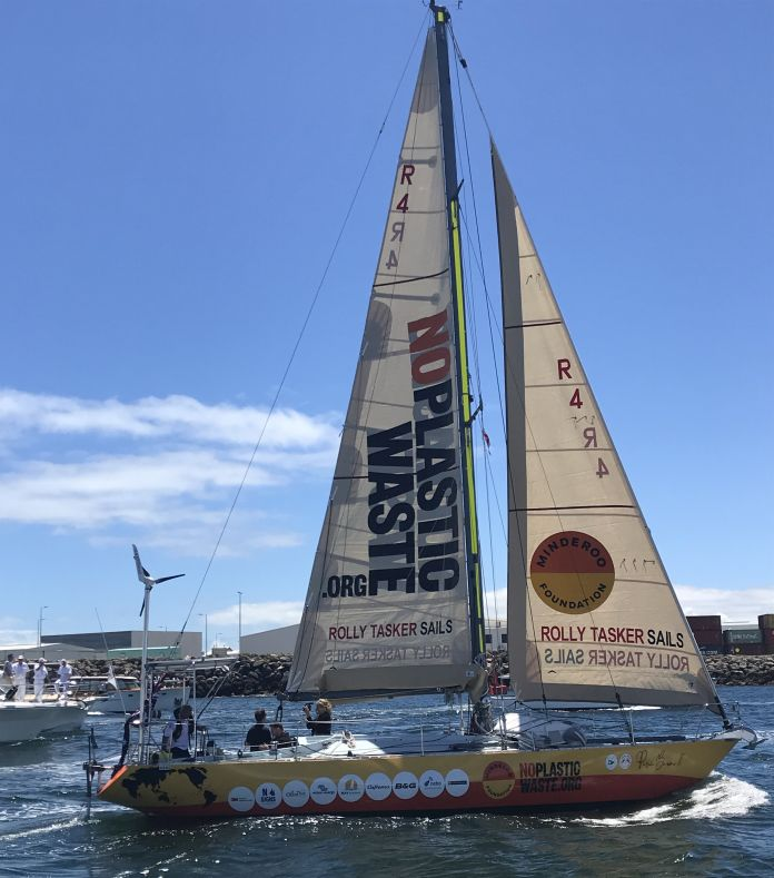 Jon Sanders at the start of his 11th solo circumnavigation