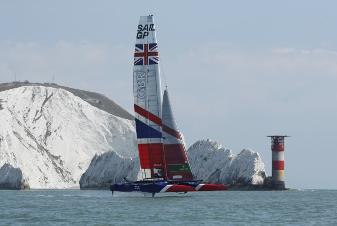 SailGP has arrived in Cowes on the Isle of Wight