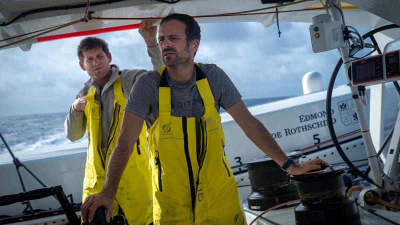 Charles Caudrelier and Franck Cammas. Photo ©: Yann Riou/ PolaRYSE / GITANA SA