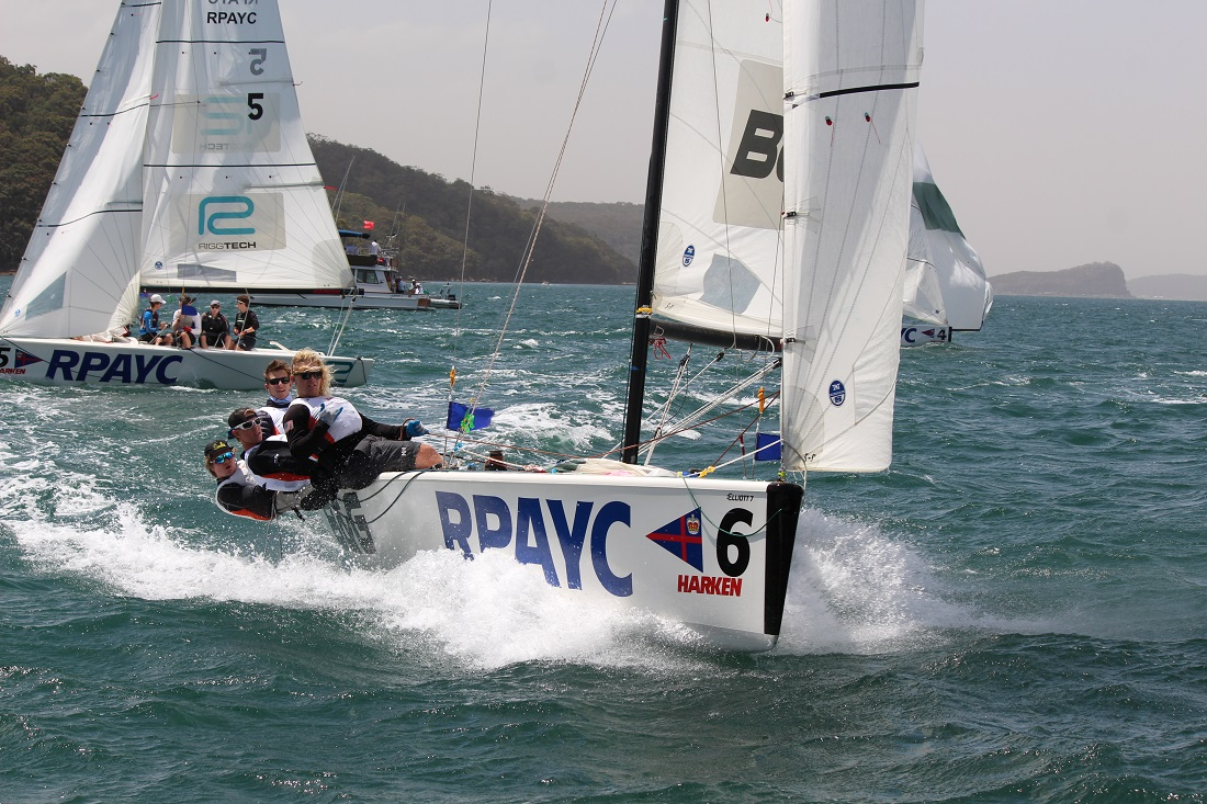 A scene from last year's competition - RPAYC media pic - Harken Int Youth Match Racing Regatta