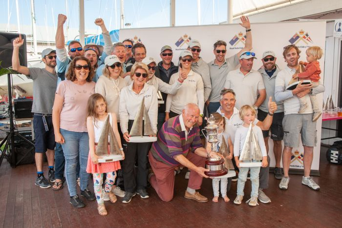The Hobsons Bay Yacht Club team of Ikon
