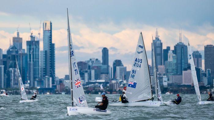 Finn at Sail Melbourne. Photo Beau Outteridge.