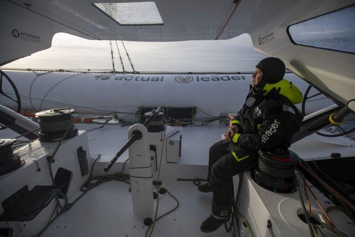 Onboard Actual Leader. © Ronan Gladu / Actual Leader.