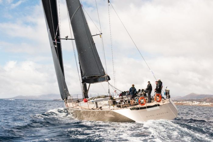 A 240 nautical mile run in the first 24 hours of the RORC Transatlantic Race for Wally 100 Dark Shadow