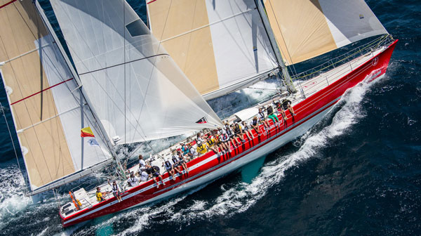 The late Sir Peter Blake's 1989-90 Whitbread winning Steinlager II fully restored and now opperated by the New Zealand Sailing Trust for youth sailing and adventure programs. Preserving the past