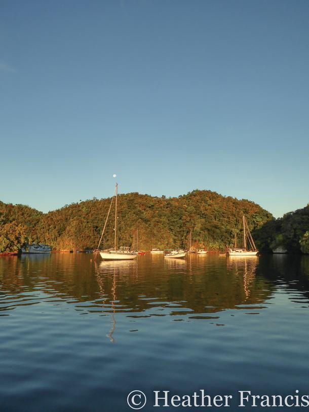 Mooring field in Palau.
