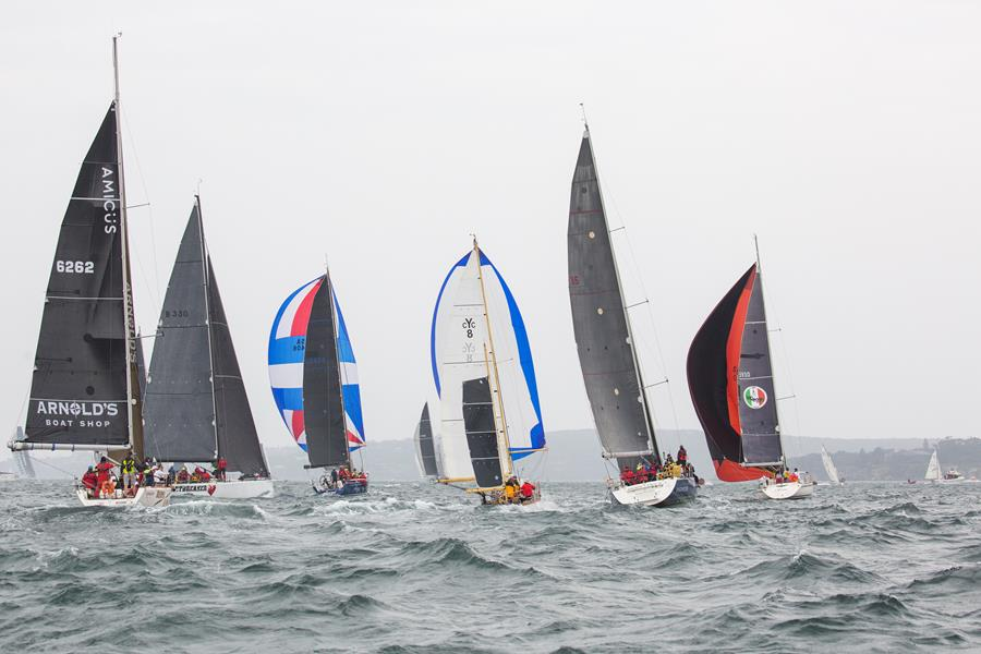 Fast start to the race - CYCA pic