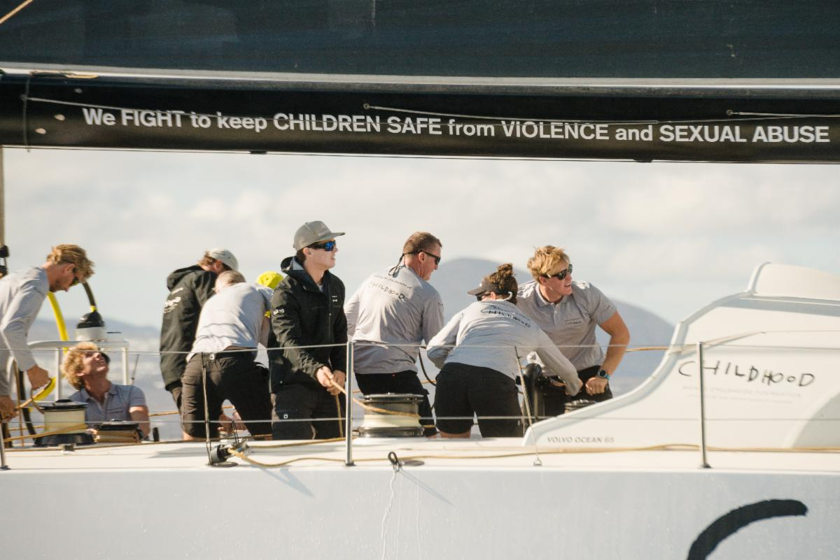 The deep dive south has paid dividends for the team on board VO65 Childhood I © Joaquin Vera/RORC/Calero Marinas.