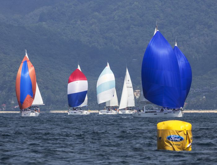 Cruisers at the Phuket King's Cup regatta. Photo Guy Nowell.