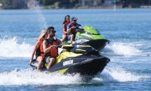 Fifty penalty notices were issued to jet skiers over the weekend with the top three reasons being not wearing a lifejacket