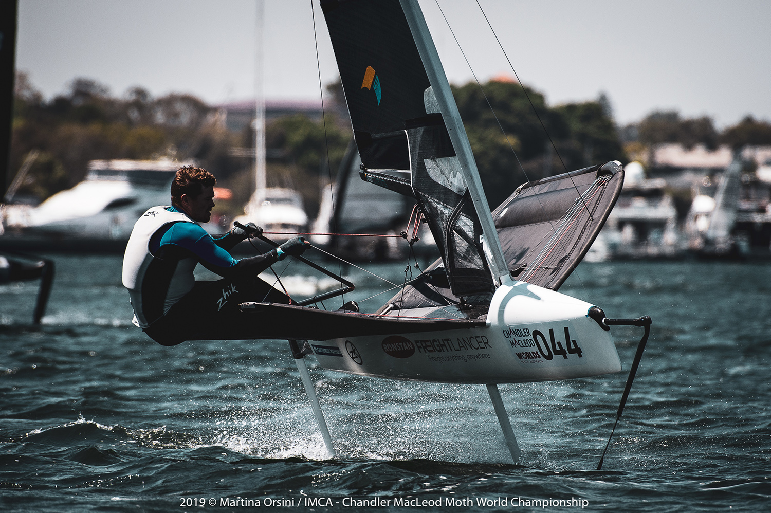 Tom Slingsby has taken out his first Australian Moth Championship as sailors prepare for the Worlds starting on Friday. Photo Martina Orsini.