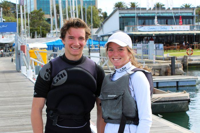 Elliot Hughes and Jarrah Harris-Moore - picture courtesy of Sarah Pettiford.