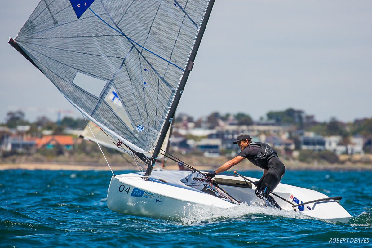 Andy Moloney (NZL) at the Finn Gold Cup