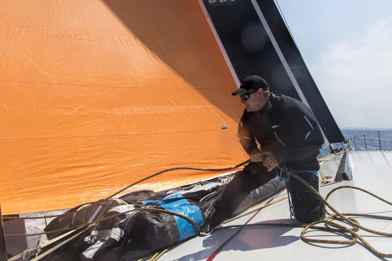 On board supermaxi Comanche. Photo Andrea Francolini.