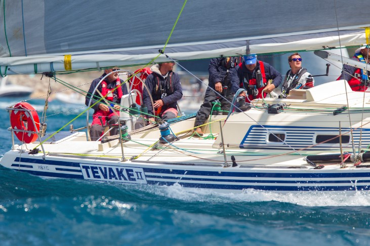 Tevake II in the ORCV Melbourne to Devonport. Photo Steb Fisher.