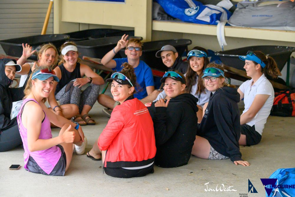 Young Laser sailors waiting for the PRO's announcement. Photo Jon West Photography.