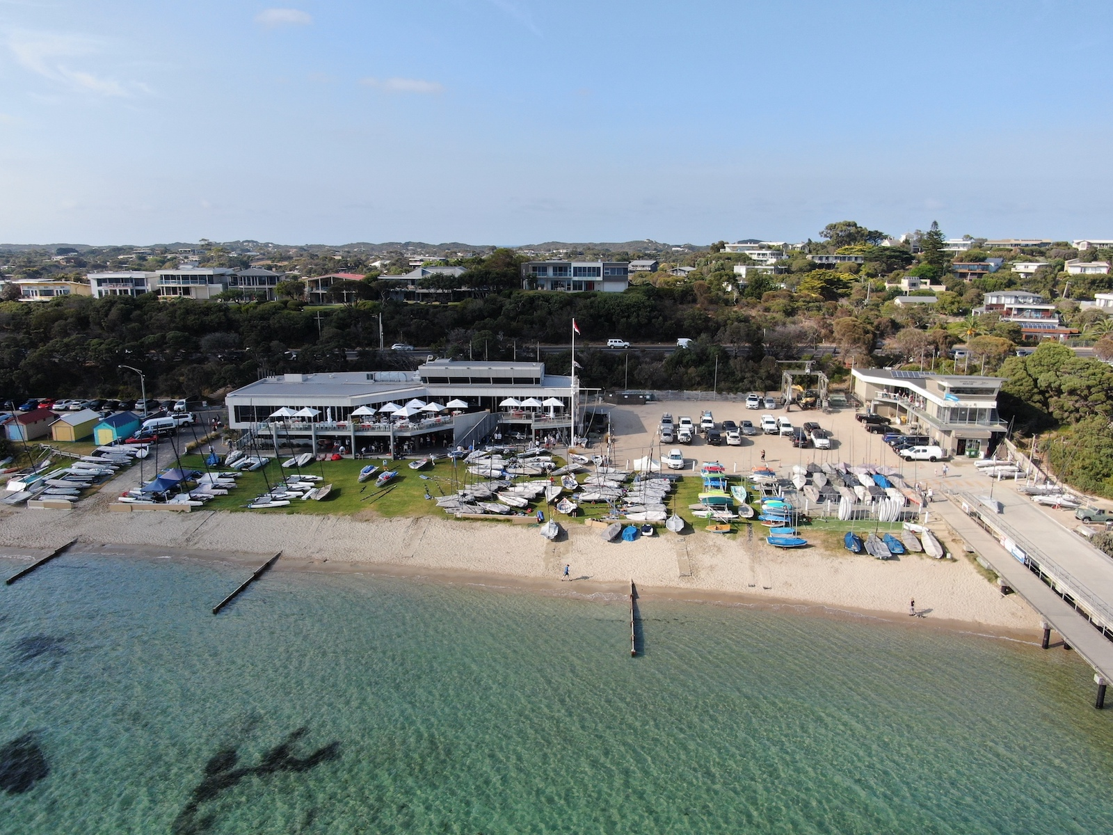 The Blairgowrie Yacht Squadron is the host of the 2020 Australian 29er Nationals. Photo Harry Fisher.