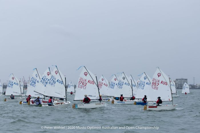 The Optimist racing has seen a range of conditions - photo Peter Withiel.