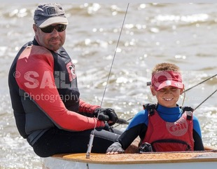 National Champion 'A Power' sailed by father and son combination Rohan and Aidan Nosworthy. Photo Sailing Shotz Photography http://www.juliehartwigphotography.ifp3.com/.