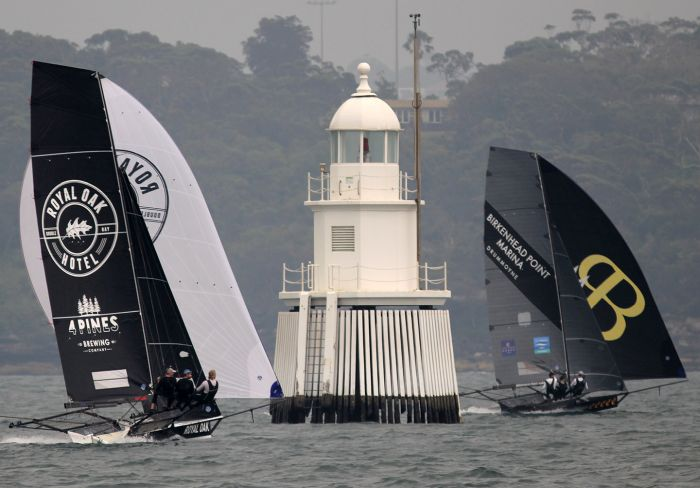 The race for second place on the second spinnaker run to Obelisk Bay. Photo Michael Chittenden.