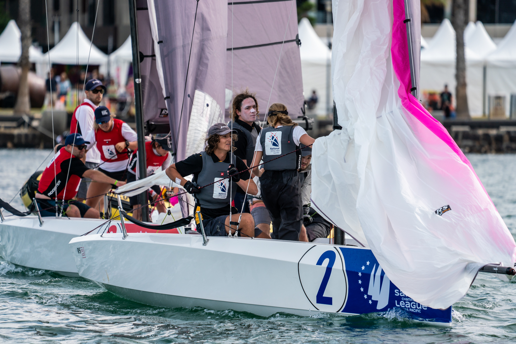 Derwent Sailing Squadron leads Royal Brighton yacht Club - Beau Outteridge pic