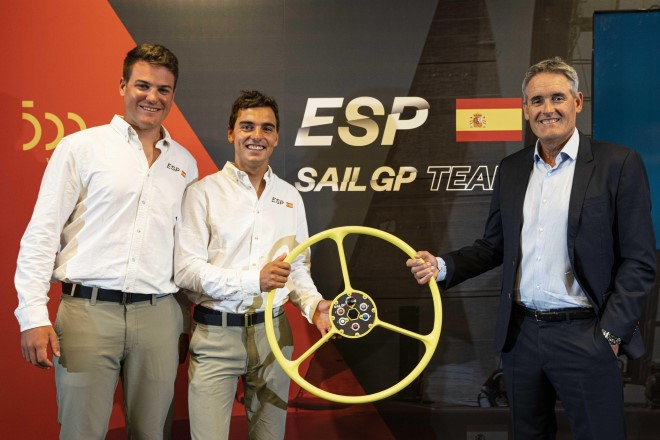 Sir Russell Coutts at the launch of Spain SailGP.