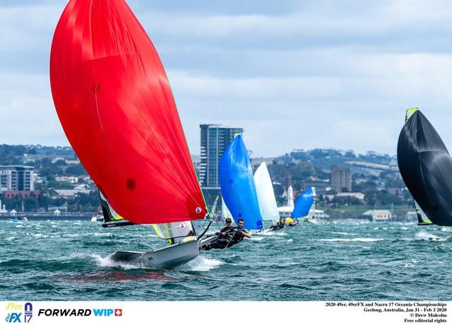 Peter Burling & Blair Tuke (NZL) at the 2020 Oceania Championships.