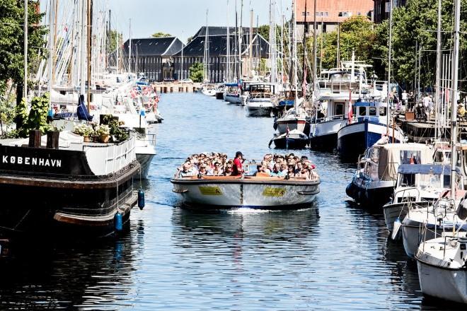 Canal tour in Copenhagen.