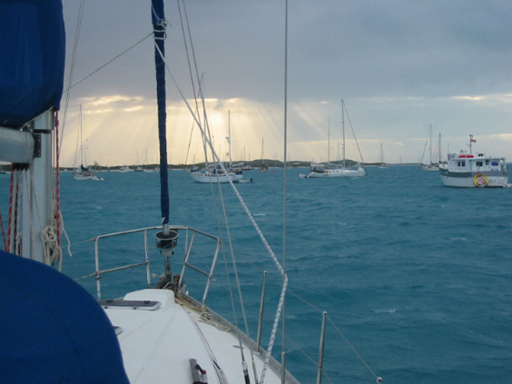 Hmmm... how do I know whether to use Apparent or True wind when swinging sideways at anchor as a storm comes up?