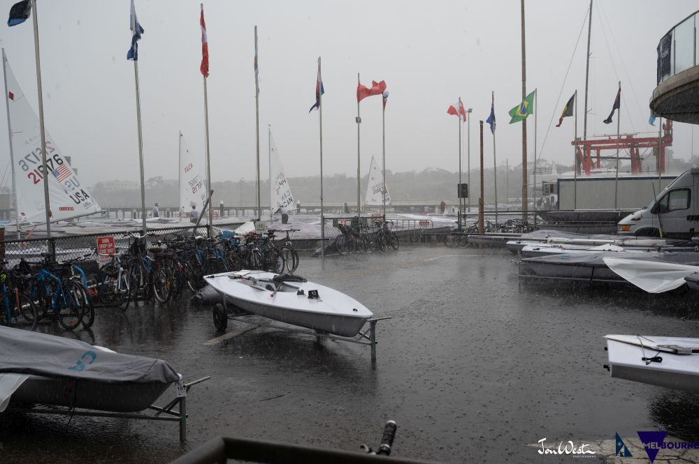 Wild weather sweeps Sandringham Yacht Club